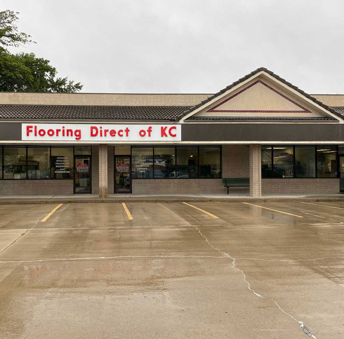 Exterior photo of the Flooring Direct of KC location.